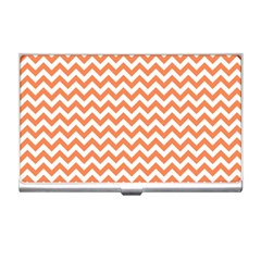 Orange And White Zigzag Business Card Holder