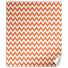 Orange And White Zigzag Canvas 8  X 10  (unframed)