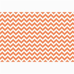 Orange And White Zigzag Canvas 12  x 18  (Unframed)