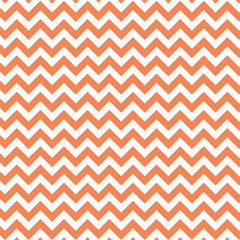 Orange And White Zigzag Canvas 16  x 16  (Unframed)
