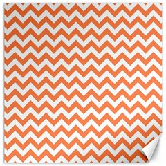 Orange And White Zigzag Canvas 20  x 20  (Unframed)
