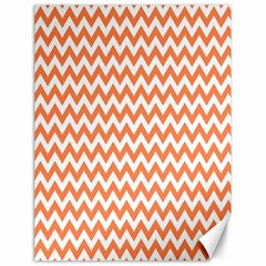 Orange And White Zigzag Canvas 18  x 24  (Unframed)