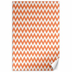 Orange And White Zigzag Canvas 20  x 30  (Unframed)
