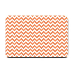 Orange And White Zigzag Small Door Mat