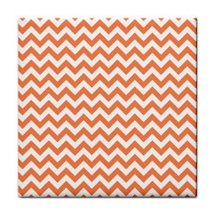 Orange And White Zigzag Face Towel