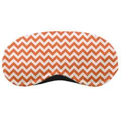 Orange And White Zigzag Sleeping Mask