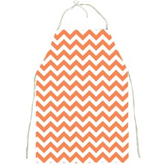 Orange And White Zigzag Apron