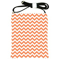 Orange And White Zigzag Shoulder Sling Bag