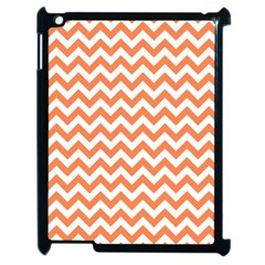 Orange And White Zigzag Apple Ipad 2 Case (black)