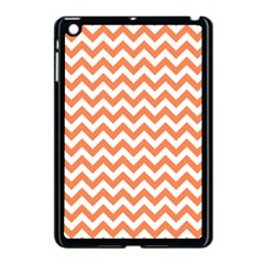 Orange And White Zigzag Apple Ipad Mini Case (black)