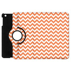 Orange And White Zigzag Apple iPad Mini Flip 360 Case