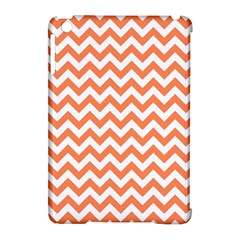 Orange And White Zigzag Apple iPad Mini Hardshell Case (Compatible with Smart Cover)