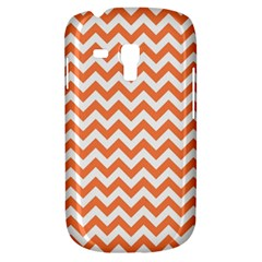 Orange And White Zigzag Samsung Galaxy S3 Mini I8190 Hardshell Case