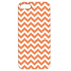 Orange And White Zigzag Apple iPhone 5 Hardshell Case with Stand