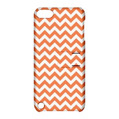 Orange And White Zigzag Apple iPod Touch 5 Hardshell Case with Stand