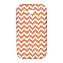 Orange And White Zigzag Samsung Galaxy Grand DUOS I9082 Hardshell Case