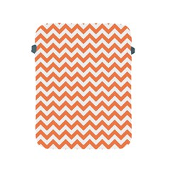 Orange And White Zigzag Apple iPad Protective Sleeve