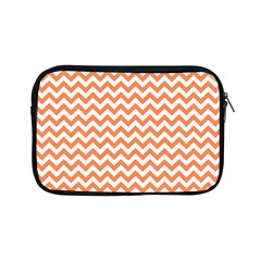 Orange And White Zigzag Apple iPad Mini Zippered Sleeve