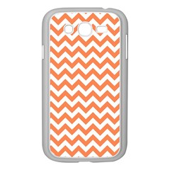 Orange And White Zigzag Samsung Galaxy Grand Duos I9082 Case (white)