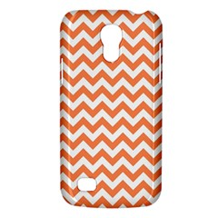 Orange And White Zigzag Samsung Galaxy S4 Mini (gt I9190) Hardshell Case