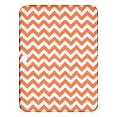 Orange And White Zigzag Samsung Galaxy Tab 3 (10.1 ) P5200 Hardshell Case