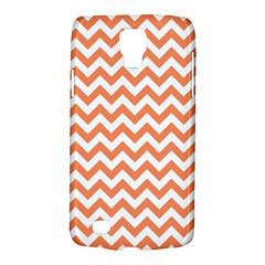 Orange And White Zigzag Samsung Galaxy S4 Active (I9295) Hardshell Case