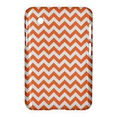 Orange And White Zigzag Samsung Galaxy Tab 2 (7 ) P3100 Hardshell Case