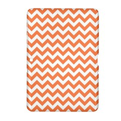 Orange And White Zigzag Samsung Galaxy Tab 2 (10.1 ) P5100 Hardshell Case