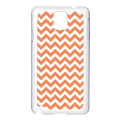 Orange And White Zigzag Samsung Galaxy Note 3 N9005 Case (White)