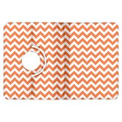 Orange And White Zigzag Kindle Fire HDX 7  Flip 360 Case