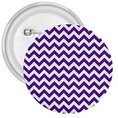 Purple And White Zigzag Pattern 3  Button