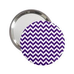 Purple And White Zigzag Pattern Handbag Mirror (2.25 )