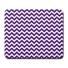 Purple And White Zigzag Pattern Large Mouse Pad (rectangle)