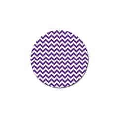 Purple And White Zigzag Pattern Golf Ball Marker