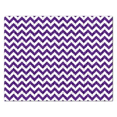 Purple And White Zigzag Pattern Jigsaw Puzzle (Rectangle)