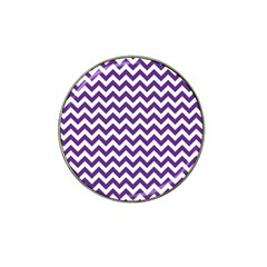Purple And White Zigzag Pattern Golf Ball Marker (for Hat Clip)