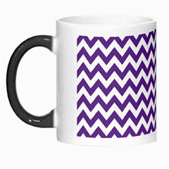 Purple And White Zigzag Pattern Morph Mug