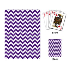 Purple And White Zigzag Pattern Playing Cards Single Design