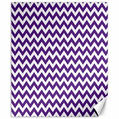 Purple And White Zigzag Pattern Canvas 8  x 10  (Unframed)