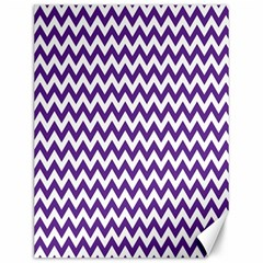 Purple And White Zigzag Pattern Canvas 12  X 16  (unframed)
