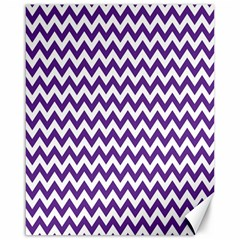 Purple And White Zigzag Pattern Canvas 16  x 20  (Unframed)