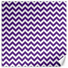 Purple And White Zigzag Pattern Canvas 20  x 20  (Unframed)
