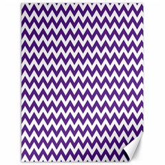 Purple And White Zigzag Pattern Canvas 18  x 24  (Unframed)