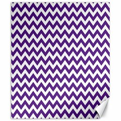 Purple And White Zigzag Pattern Canvas 20  X 24  (unframed)