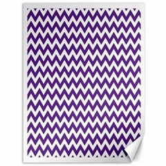 Purple And White Zigzag Pattern Canvas 36  X 48  (unframed)