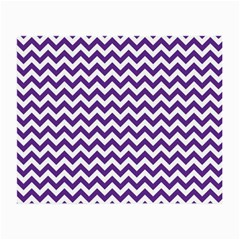 Purple And White Zigzag Pattern Glasses Cloth (Small, Two Sided)