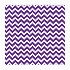 Purple And White Zigzag Pattern Glasses Cloth (Medium, Two Sided)