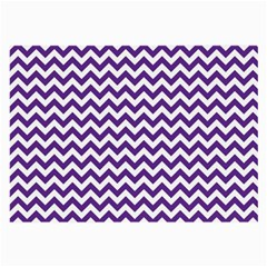 Purple And White Zigzag Pattern Glasses Cloth (Large, Two Sided)