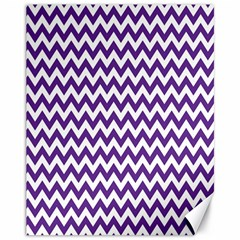 Purple And White Zigzag Pattern Canvas 11  X 14  (unframed)