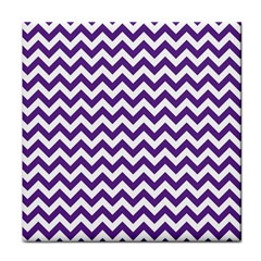 Purple And White Zigzag Pattern Face Towel